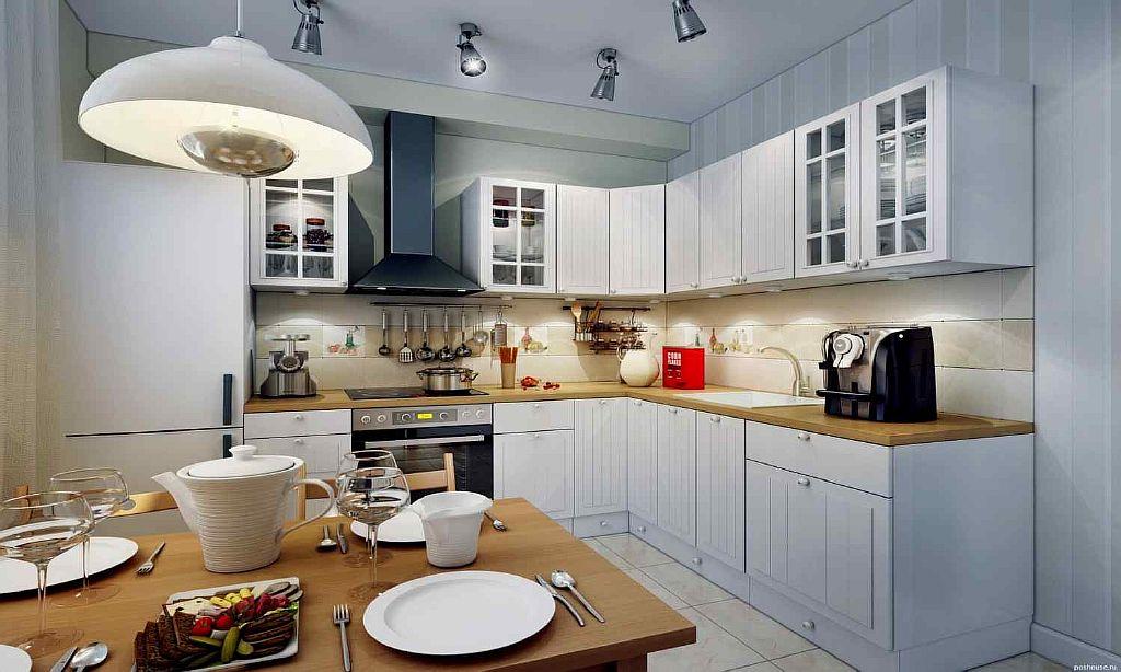 Освещение в небольшой кухне