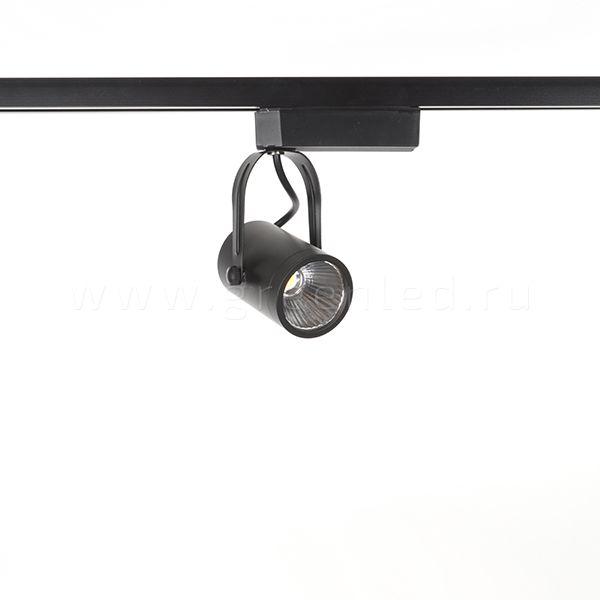 Трековый LED светильник TRV-5001, черный вид спереди