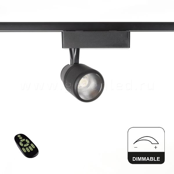Диммируемый LED светильник TRVD-5003C, черный, вид спереди