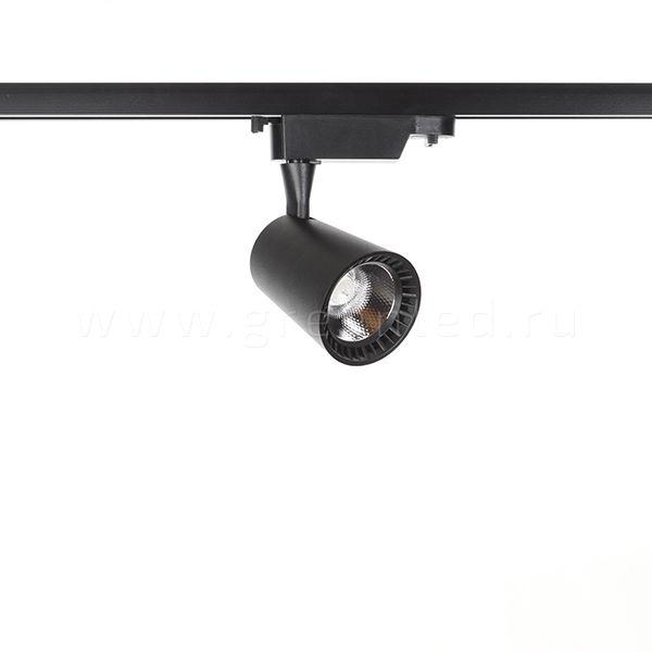 Трековый LED светильник TRV-5004, черный вид спереди