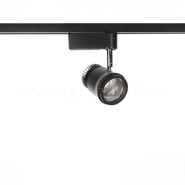 Трековый LED светильник TRV-5006, черный, вид спереди