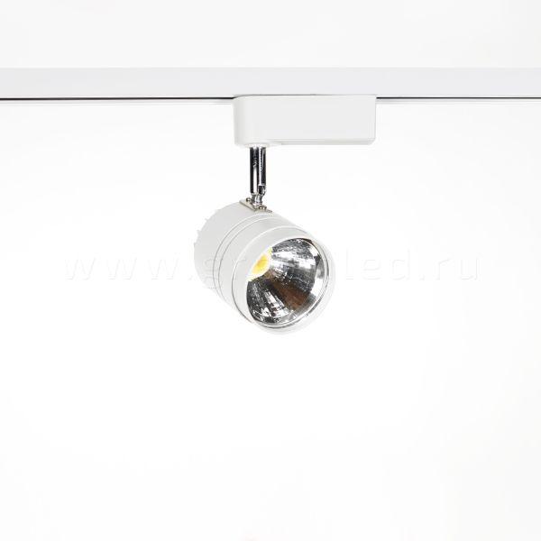Трековый LED светильник TRV-5007, белый, вид спереди