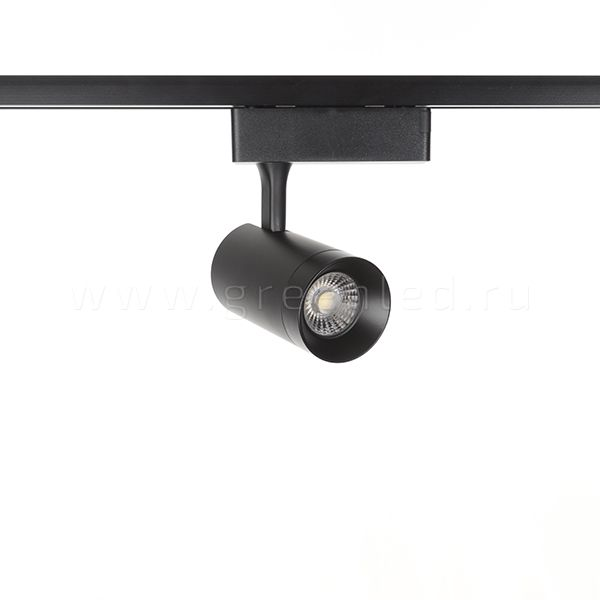Трековый LED светильник TRV-5008, черный, вид спереди