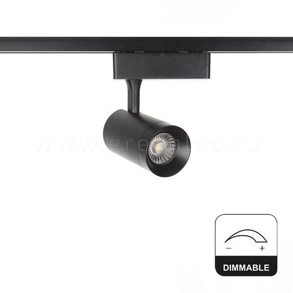Диммируемый LED светильник TRVD-5008T, черный, вид спереди