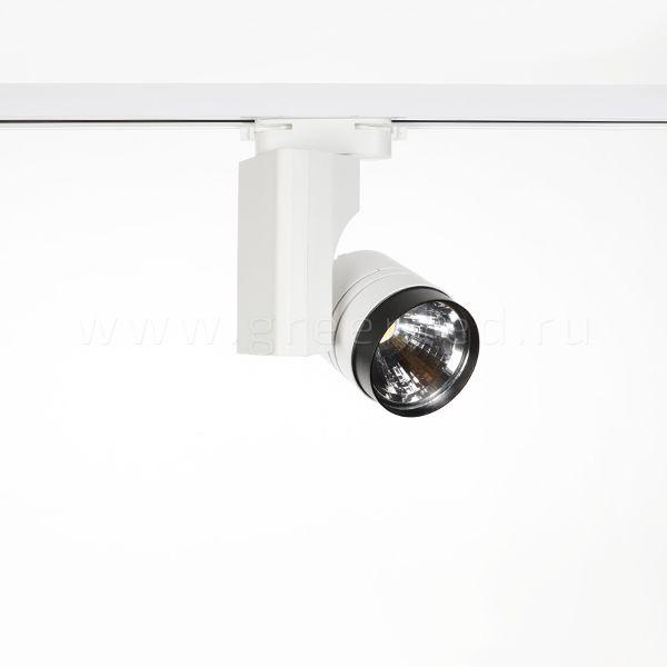Трековый LED светильник TRV-5009, черный с белым, вид спереди