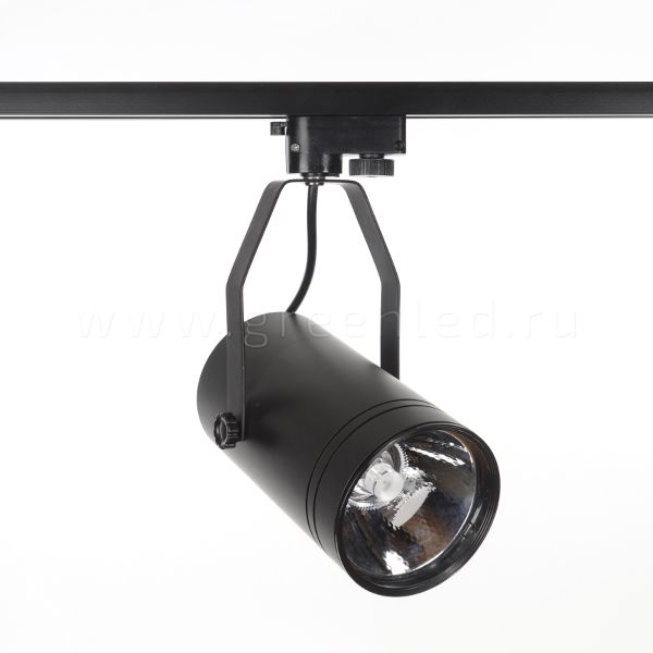 Трековый LED светильник TRV-5012, черный, вид спереди