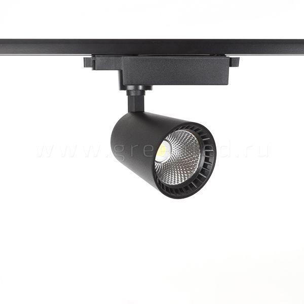 Трековый LED светильник TRV-5014, черный, вид спереди