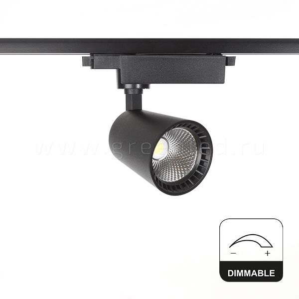 Диммируемый LED светильник TRVD-5014T, черный, вид спереди