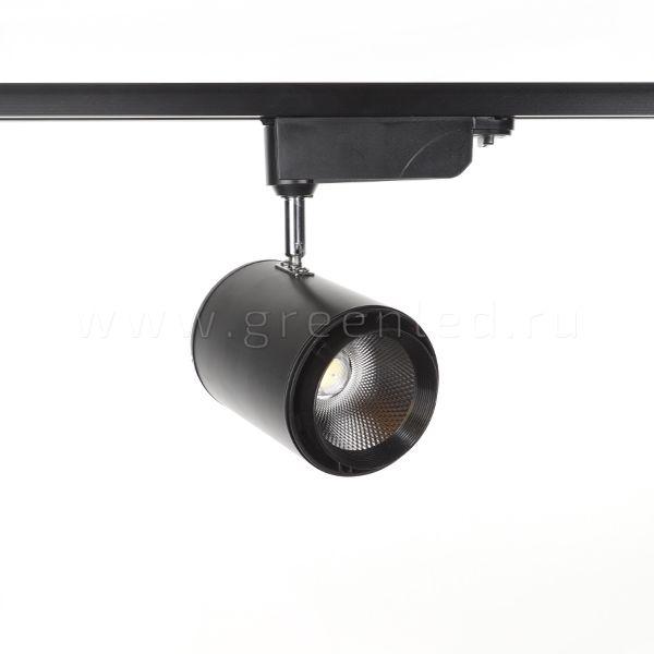 Трековый LED светильник TRV-5015, черный, вид спереди
