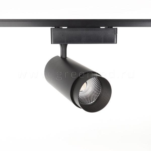 Трековый LED светильник TRV-5017, черный, вид спереди
