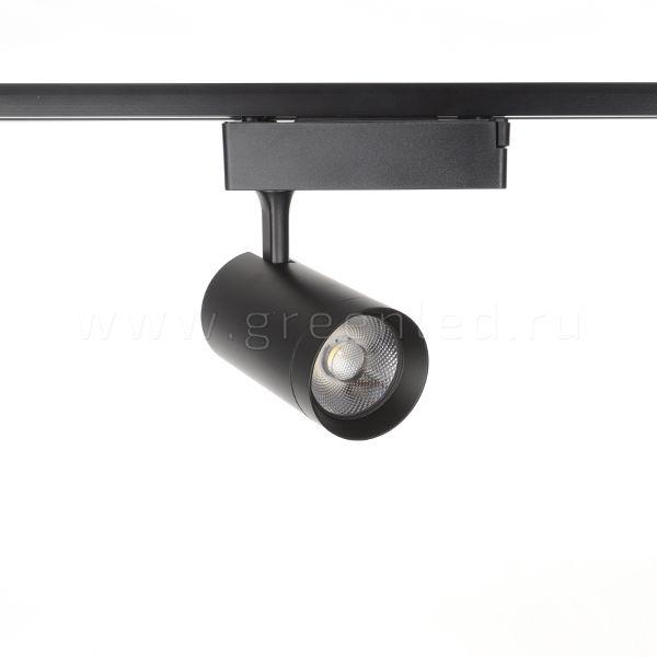 Трековый LED светильник TRV-5018, черный, вид спереди
