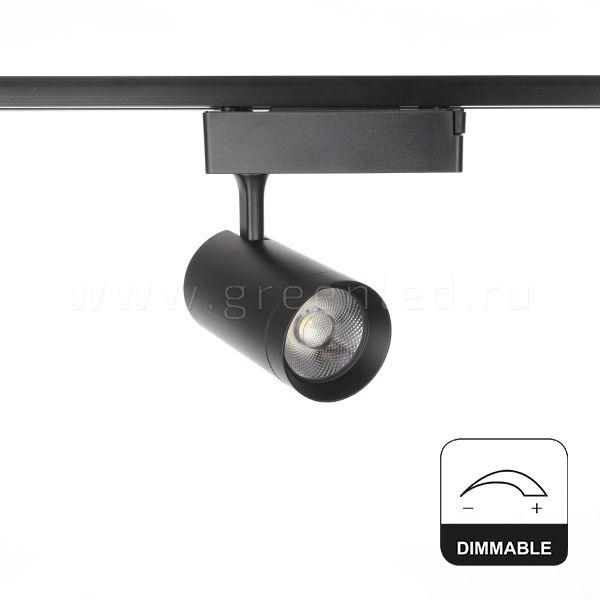 Диммируемый LED светильник TRVD-5018T, черный, вид спереди