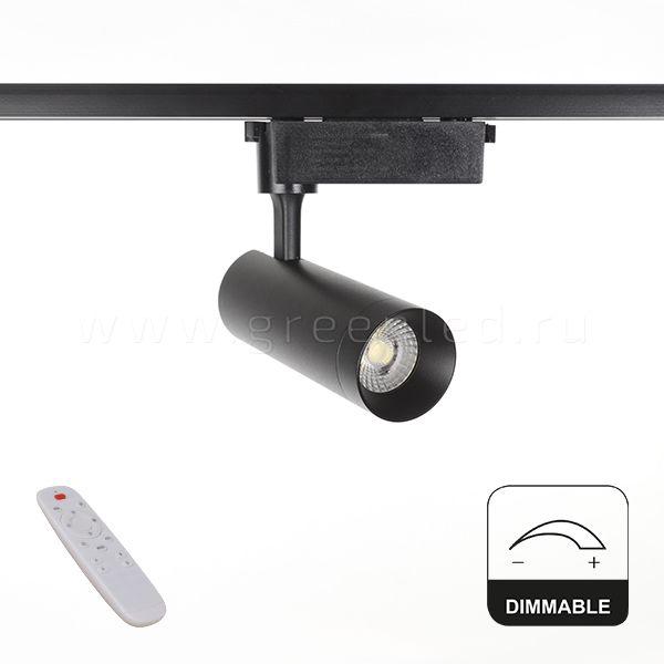 Диммируемый LED светильник TRVD-5019C, черный, вид спереди