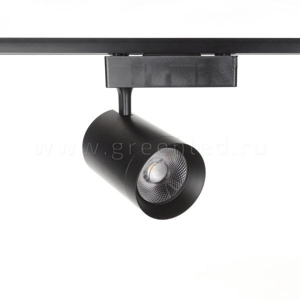 Трековый LED светильник TRV-5028, черный, вид спереди