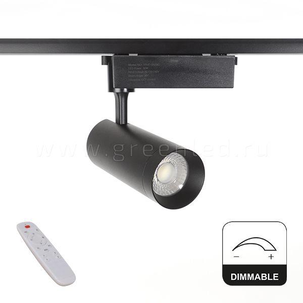 Диммируемый LED светильник TRVD-5029C, черный, вид спереди