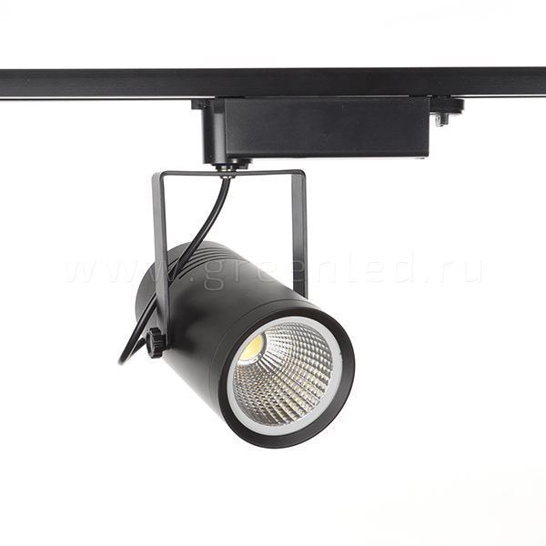 Трековый LED светильник TRV-535, черный вид спереди