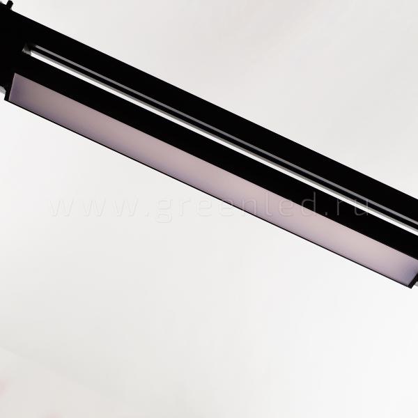 Трековый LED светильник TRV-L02, черный, на шинопроводе
