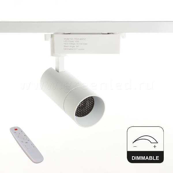 Диммируемый LED светильник TRVD-6001C, белый, вид спереди