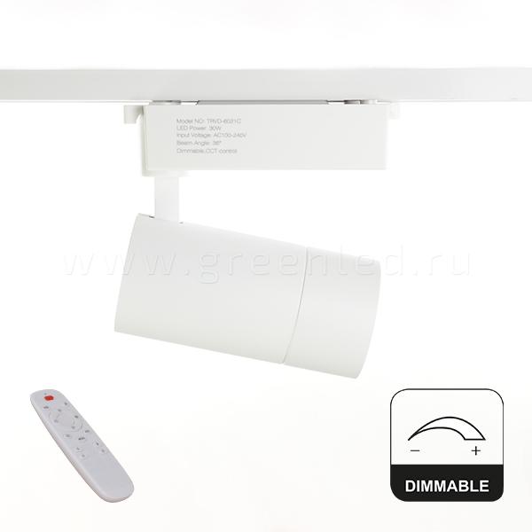 Диммируемый LED светильник TRVD-6021C, белый, вид сбоку