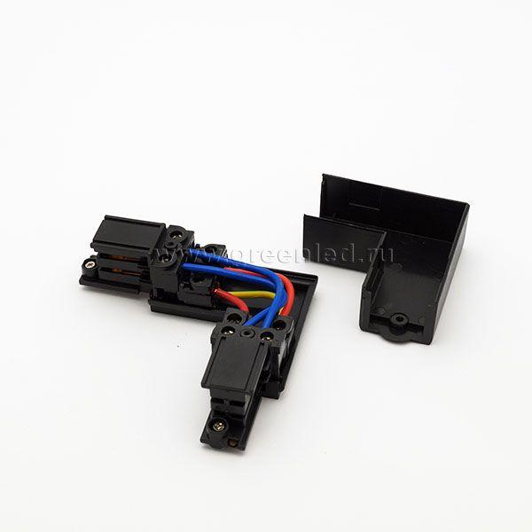 Соединитель угловой аналог Global XTS 35-1, черный, контактная группа