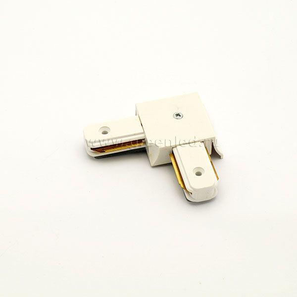 Соединитель шинопровода «Эконом» угловой, белый