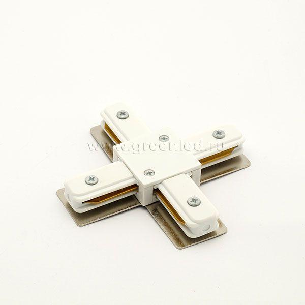 Соединитель шинопровода «Стандарт» Х, белый