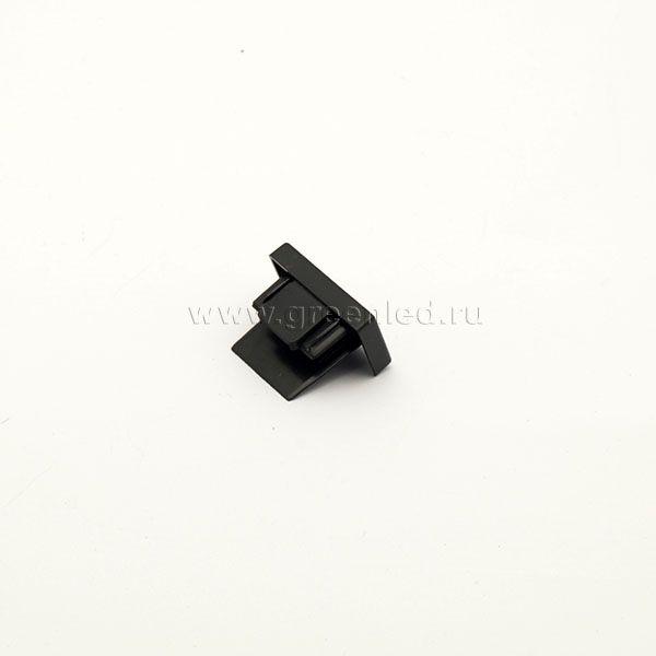 Заглушка однофазного шинопровода, черная