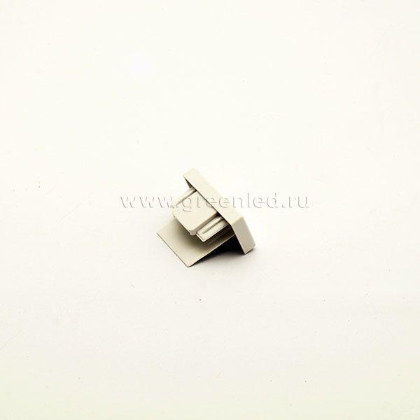 Заглушка однофазного шинопровода, белая