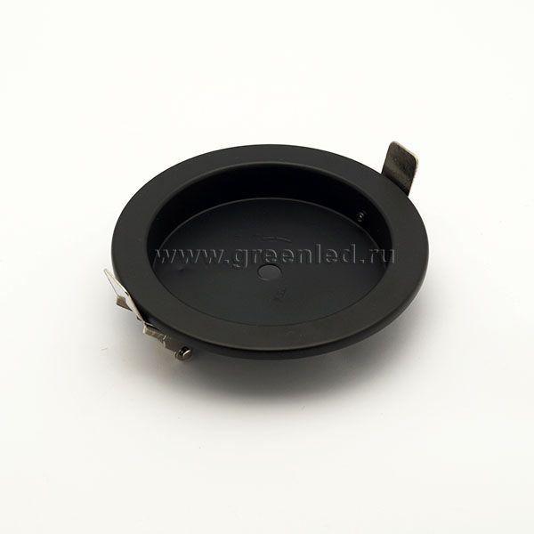 Потолочное крепление светильника врезное, черное