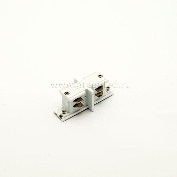 Соединитель внутренний трехфазного шинопровода, белый