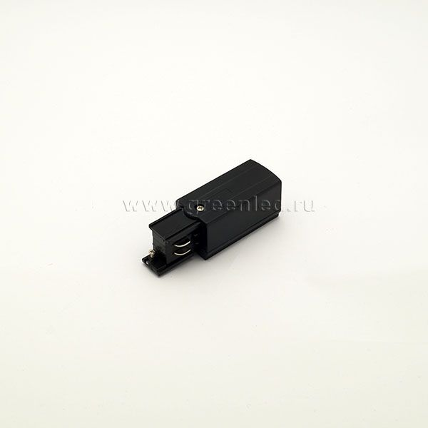 Торцевой токоподвод трехфазного шинопровода, черный