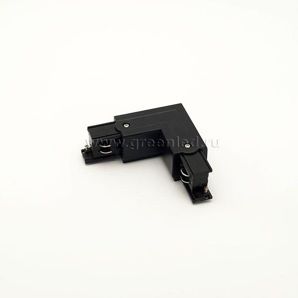 Соединитель угловой трехфазного шинопровода, черный