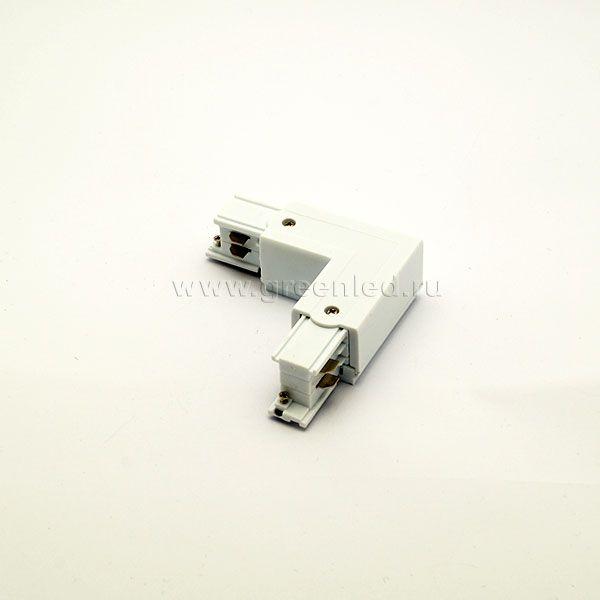 Соединитель угловой трехфазного шинопровода, белый