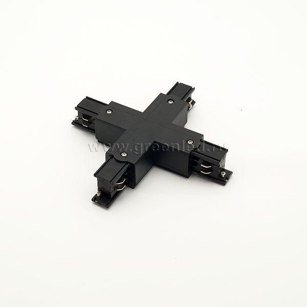 Соединитель Х трехфазного шинопровода, черный