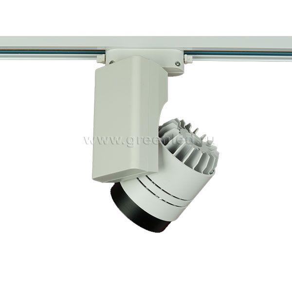 Трековый LED светильник TRV-5009, черный с белым, вид сзади