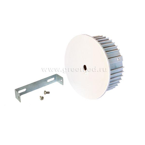 Потолочное крепление светильника накладное, белое
