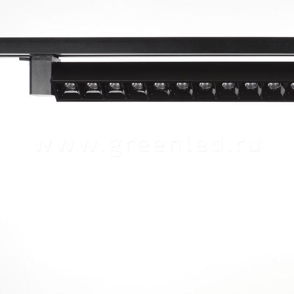 Трековый LED светильник TRV-L01, черный, установка на шинопроводе