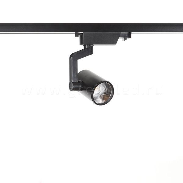 Трековый LED светильник TR-5002, черный, вид  спереди